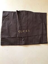 Brand New Gucci Garment (Suit) Dark Brown Bag