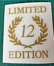 TVR LIMITED EDITION LOGO - WEDGE DECAL STICKER