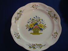 "French hand painted faience plate by Pornic, Brittany, Diameter"" 10.5"""