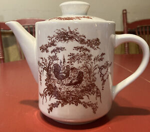 California Pantry Classic Ceramics ~ Red Rooster Teapot ~ 2002 ~ Great Condition