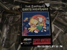 Simpson's Bart's Nightmare (SNES Super Nintendo) Manual Only... NO GAME