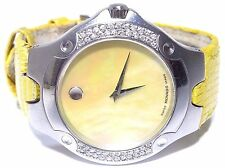 Movado Sports Edition Yellow Dial Stainless Steel Swiss Quartz Watch 5174724