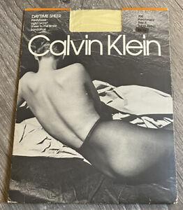 NEW Vintage 1990 Calvin Klein Pantyhose Size A Almost Black Daytime Sheer 700