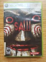 Saw (Microsoft Xbox 360, 2009)  free shipping complete, Untested