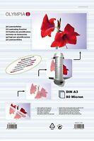 OLYMPIA Laminierfolien 50 100 400 Blatt DIN A3 A4 A5 A6 Visitenkarten 80 Micron