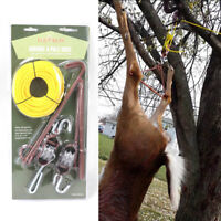 TOURBON Deer Hunting Lifting Tool Gambrel & Pully Hoist Set Heavy Duty 440Lbs