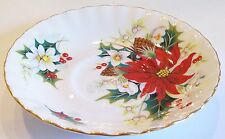 Vintage Royal Albert Christmas Poinsettia Saucers