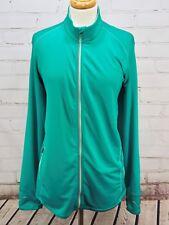REI Full Zip Fitness Jacket Stretch Running Top Women's Plus Size 2X, Teal Green
