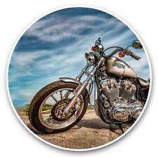 2 x Vinyl Stickers 30cm - Classic Motorbike Biker Cruiser Bike  #44623
