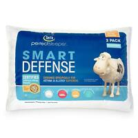 Serta Sleeper Hypoallergenic Bed Pillows Soft Cotton Cover Queen Size 2 Pack