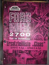 Ford Diesel Engines 2700 Harvester Baureihe Claas: Catalogue Parts