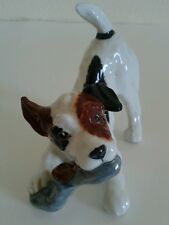 "Royal Doulton Figurine Puppy Dog Terrier W/Slipper Hn2654 4"" Made In England"