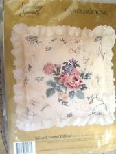 Candlewicking Mixed Floral Pillow Embroidery Kit--Unopened