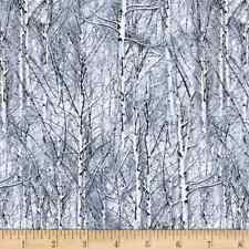 Into The Woods WHEAT Blue cotton Makowerfabric Size 55cm x 50cm larger available