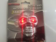 Lighted Skull Head Chrome Abs Plastic Emblem 3-D Decal Chevy,Ford,Dodge,Toyota