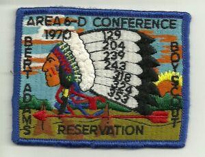 1970 Area 6-D conference Camp Bert Adams Reservation OA BSA Patch