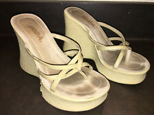 WOMENS SHOE Sandal WEDGE HIGH HEEL Flip Flop HALLOWEEN COSTUME Accessory 7M SODA