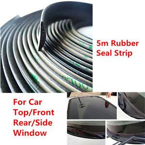 5m Car Windshield Seal Strip Sunroof Triangular Window Sealing Trim Weatherstrip
