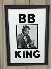 B.B. King Signed 8x10 B&W Photo Framed JSA COA Signature Autograph Very Nice!!