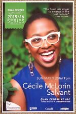 CECILE McLORIN SALVANT 2016 POSTER Gig Concert Vancouver British Columbia Canada