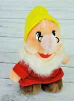 """Disney Doc Dwarf Plush 8"""" Stuffed Doll Vintage Snow White & The Seven Dwarfs"""