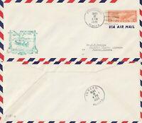US 1938 FIRST FLIGHT AIR MAIL FLOWN COVER FAIRBANKS ALASKA TO JUNEAU ALASKA a