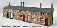 Ancorton 95865 OO Gauge Half Relief Terraced Cottages Kit