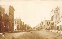 C81/ Blue Earth Minnesota Mn Real Photo RPPC Postcard 1910 Palace Market Main St