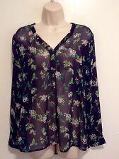 Liz Claiborne Womens Floral Shirt Sz PL