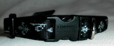 """Lupine Dog Collar 6"""" to 9"""" NWT .5"""" Wide Adjusts SILVER CHARM Pattern Guarantee"""