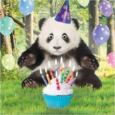 Party Panda Bear Funny Gogglies 3D Moving Googly Eyes Birthday Greeting Card