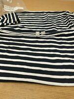 Asos Maternity Stripe Slouchy L/S Top. Navy / White. Size 14. Ref B6