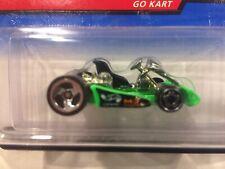 Hot Wheels 1998 FE 3 Spoke Go Kart on US Card. Ultra Tough to Find Variation.