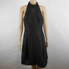 Plenty By Tracy Reese Thalia Halter Pleated Cocktail Dress Black Size 10 Pockets