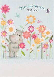 "Hallmark Birthday Card ""Birthday Wishes For You "" Hippo Design"