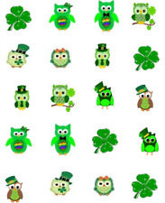 St (Patty's) Patrick's Day Owls  Waterslide Nail Decals/Nail art