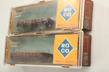 Roco 2305 N 2 pc. LOW-SIDED WAGON DIRT / Scratches M.Original Package
