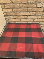 """Pottery Barn BUFFALO Check Pillow Cover 24"""" Red Black NEW"""