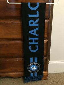 Charlotte FC Scarf | MLS | Two sided | Black/Blue | NWT