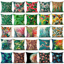 Floral Tropical Plant Leaf Cushion Covers Throw Pillow Case Home Sofa Decor AU