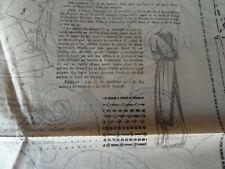 ANCIENNE PLANCHE PATRON DE LA  REVUE MODE PRATIQUE 1910 N°29