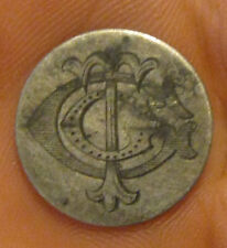 "U.S. - ""TCC"" Love Token on a Silver Capped Bust Dime"