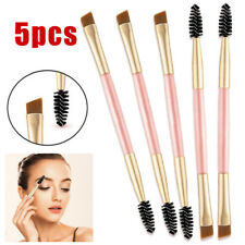 5PCS Eyebrow Brush Dual-ended Brow Eyeliner Angled Cut Spoolie Makeup Tools