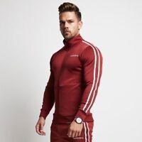 Men Gyms Fitness Bodybuilding Hoodies Casual Fashion Jacket Zipper Sportswear
