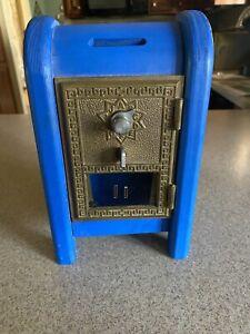 Vintage Antique Brass US Post Office Mail Box Door Bank