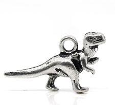 10 Tibetan Silver Dinosaur Charms T Rex 3d Pendant