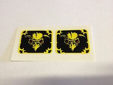 Bally Paragon Pinball Machine Playfield Spinner Decals Stickers Set of 2