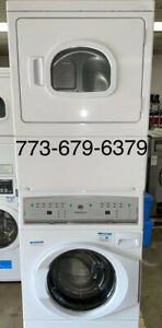 speed queen commercial stack washer & electric dryer OPL