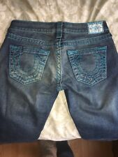 True Religion Distressed Boot Cut Jeans Womens Size 27 vintage