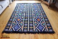 135 x 200 Cm Oriental Rug, Kelim ,Rug, CARPET, Tapestry, damaskunst S 1-4-401